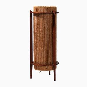 Lámpara de pie de teca de Ib Fabiansen para Fog & Mørup, años 60