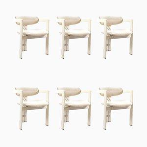 Chaises de Salle à Manger Modèle Pamplona par Augusto Savini pour Pozzi, Italie, années 60, Set de 6