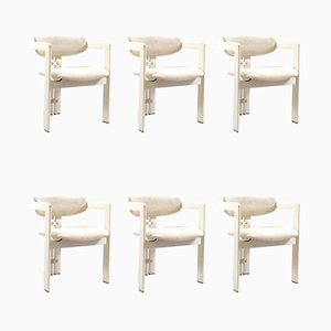 Italian Model Pamplona Dining Chairs by Augusto Savini for Pozzi, 1960s, Set of 6