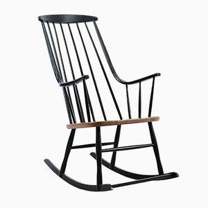 Rocking-chair en Hêtre par Lena Larsson pour Nesto, années 60