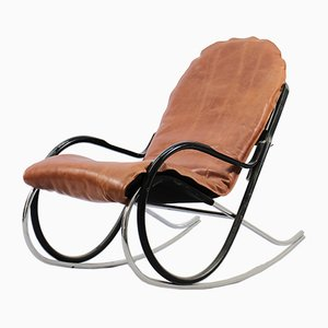 Model Nonna Rocking Chair by Paul Tuttle for Strässle, 1970s
