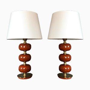 Lampes de Bureau Modèle Carmen par Henrik Blomquist pour Tranås Stilarmatur, années 70, Set de 2
