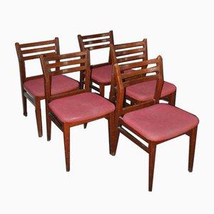 Esszimmerstühle, 1970er, 5er Set