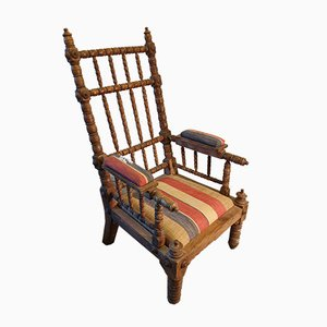 19th Century American Lounge Chair