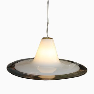 Large Round Murano Glass Pendant Lamp from RES, 1970s