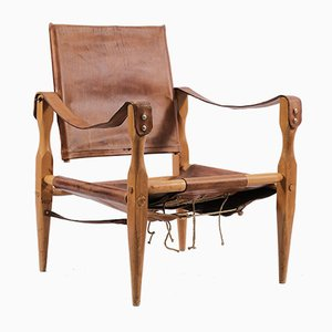 Vintage Leather Safari Chair by Wilhelm Kienzle for Wohnbedarf