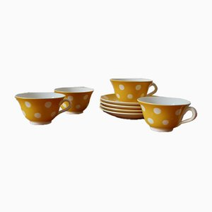 Coffee Set from Faïencerie de Sarreguemines, 1950s