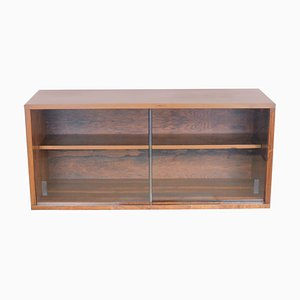 Mid-Century Rosewood & Glass Shelf