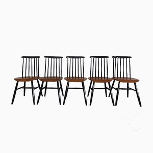 Esszimmerstühle von Ilmari Tapiovaara, 1960er, 5er Set