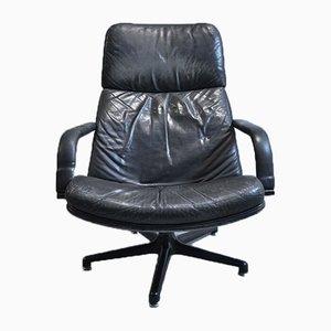 Sedia girevole in pelle di Geoffrey Harcourt per Artifort, anni '60