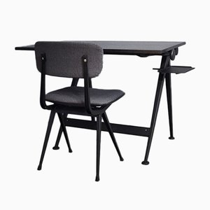 Mid-Century Desk and Chair Set by Friso Kramer for Ahrend De Cirkel, 1950s