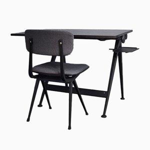 Set Bureau et Chaise Mid-Century par Friso Kramer pour Ahrend De Cirkel, années 50