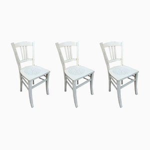 Bistro Chairs, 1940s, Set of 3