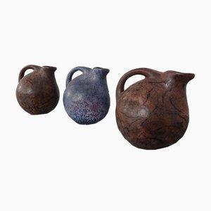 Keramikvasen von Ruscha, 1970er, 3er Set