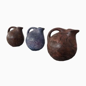 Pichets en Céramique de Ruscha, années 70, Set de 3
