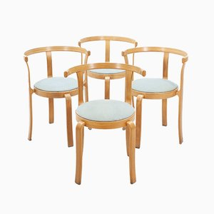Danish Stacking Dining Chairs by Rud Thygesen and Johnny Sorensen for Magnus Olesen, 1980s, Set of 4