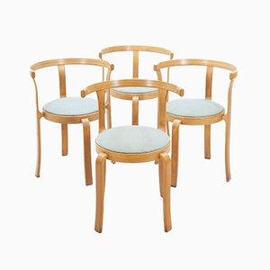 Stapelbare dänische Esszimmerstühle von Rud Thygesen & Johnny Sorensen für Magnus Olesen, 1980er, 4er Set