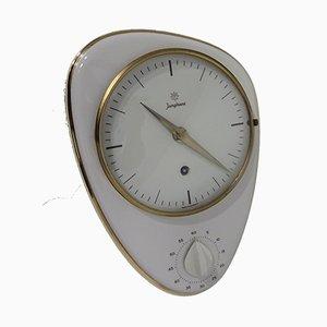 Horloge Murale avec Minuteur pour Œuf par Max Bill, années 50