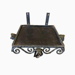 Unità di mensole Mid-Century in ferro battuto, set di 2