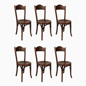 Antique Bistro Chairs by Jacob & Josef Kohn for Jacob & Josef Kohn, 1890s, Set of 6