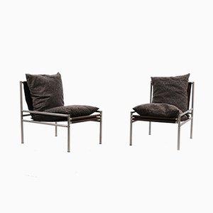 Industrielle Vintage Sessel mit Rohrgestell, 2er Set
