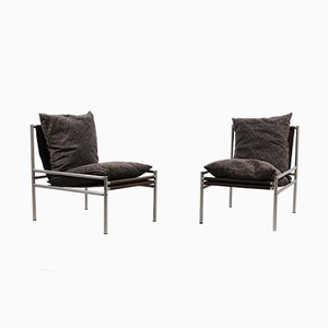 Vintage Industrial Tubular Lounge Chairs, Set of 2