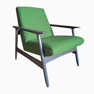 Bright Green Oak Armchair by Valerija Ema Cukermanienė for Vilniaus Baldų Kombinatas, 1960s