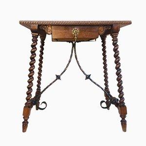 Table Console 19e Siècle en Noyer, Espagne