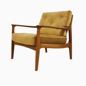 Mid-Century Cherry Wood Lounge Chair by Eugen Schmidt for Soloform