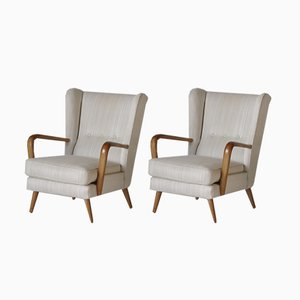 Mid-Century Wingback Armchairs by Howard Keith for HK Furniture, 1950s, Set of 2