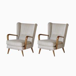 Sillones de orejas Mid-Century de Howard Keith para HK Furniture, años 50. Juego de 2