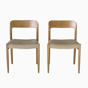 Danish Model 75 Dining Chairs by Niels Otto Møller for J.L. Møllers, 1970s, Set of 2