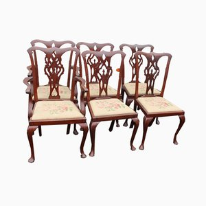 Mahogany Dining Chairs, 1920s, Set of 6