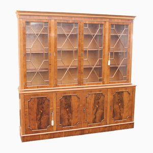 Glazed Mahogany Bookcase, 1960s