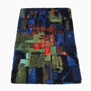 Vintage Rya Teppich von Gilde Muster, 1970er