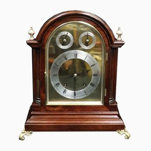Antique German Mahogany Clock from Winterhalder & Hofmeier, 1890s