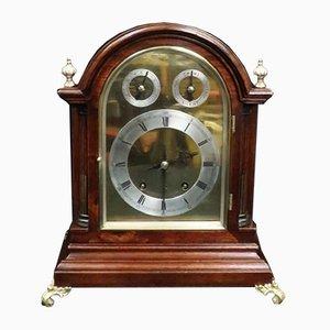 Reloj alemán antiguo de caoba de Winterhalder & Hofmeier, década de 1890