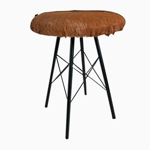 Cowhide Stool, 1960s