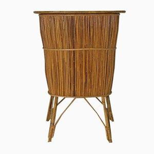 Juego de mueble bar y taburete, años 60