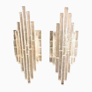 Apliques de vidrio de Albano Poli para Poliarte, años 60. Juego de 2