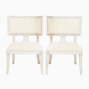 Chaises d'Appoint Gustaviennes Anciennes, Set de 2