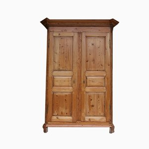Antique Baroque Softwood Cabinet