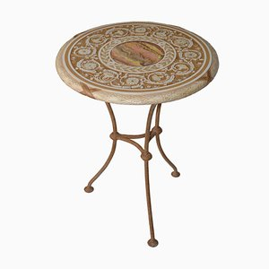 Italian Decorative Scagliola Art Side Table by Cupioli