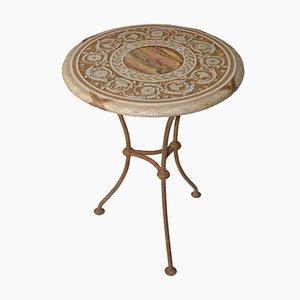 Italian Decorative Scagliola Art Side Table by Cupioli