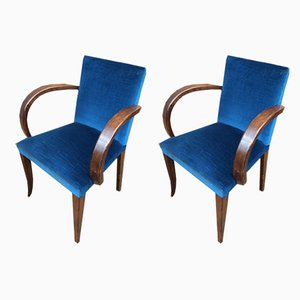 French Lounge Chairs, 1940s, Set of 2