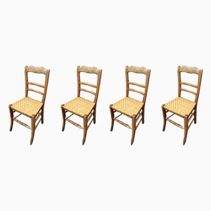 French Bistro Chairs, 1930s, Set of 4