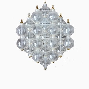 Mid-Century Austrian Frosted Glass Tulip Sconce from Kalmar
