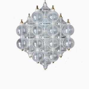 Österreichische Mid-Century Tulip Wandlampe aus Milchglas von Kalmar