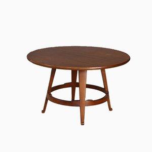 Tavolino da caffè Mid-Century in legno massiccio di Guglielmo Ulrich, anni '40