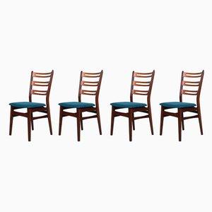 Mid-Century Esszimmerstühle aus Palisander, 1950er, 4er Set